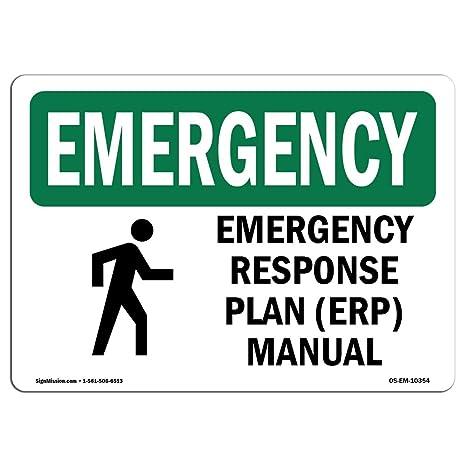 Amazon com : OSHA Emergency Sign - Response Plan (ERP