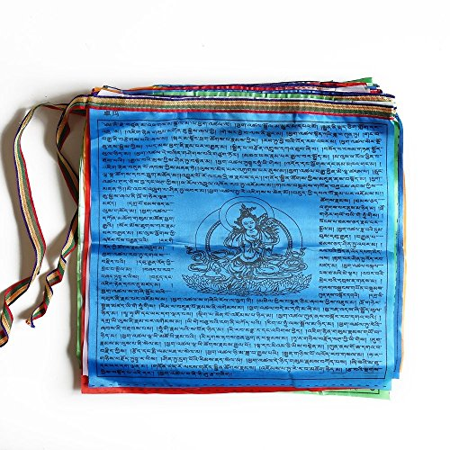 13x138-Tibetan-Buddhist-Wind-Horse-Prayer-Flags-Green-Tara-20-Flags-Per-Set-Lenght-23-FeetTibet-Sutra-Streamer