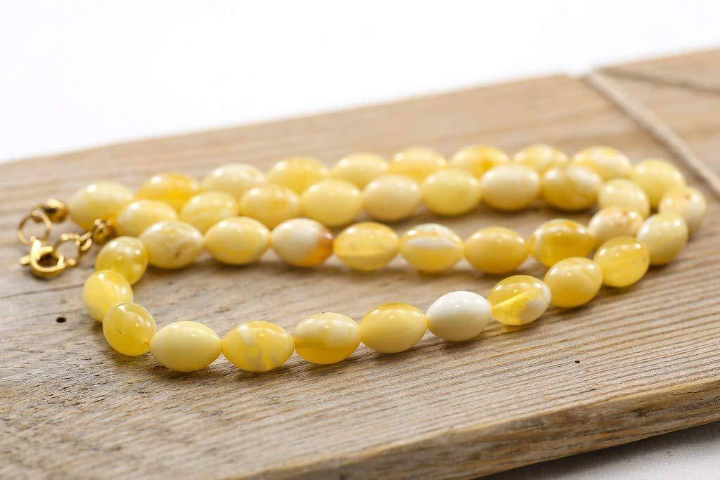 Elegante collar de ámbar, ámbar amarillo, collar de ámbar báltico, ámbar sin tratar, joyas de ámbar, collar de piedras preciosas, regalo de ámbar para ella