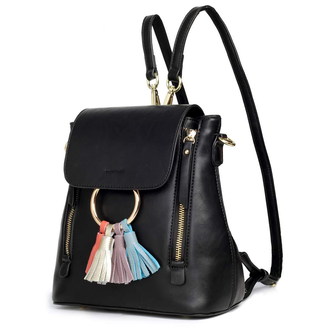 TOYOOSKY APPAREL レディース B07CS2DDRP Black, Mini Size, Tassel