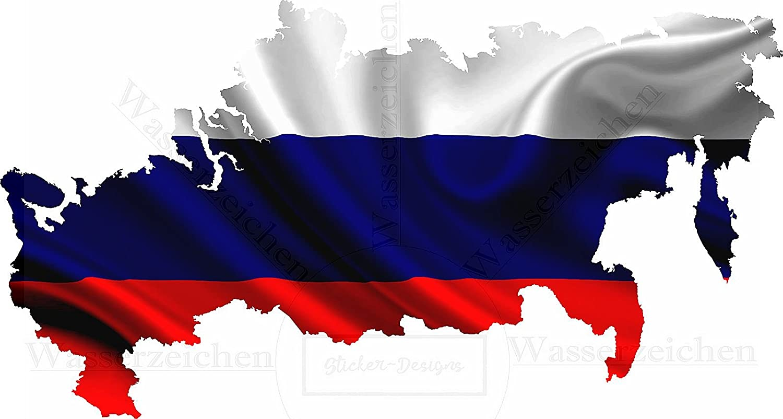 15cm Aufkleber Folie Wetterfest Made In Germany Russland Russia Uv Waschanlagenfest Auto Sticker Decal Staats Flagge Fahne Wappen Profi Qualität Bunt Farbig Digital Schnitt Auto