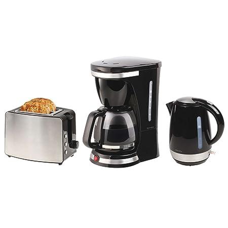 Acero inoxidable Juego de desayuno 3 piezas - Cafetera con jarra ...