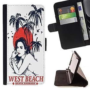 Dragon Case - FOR Apple Iphone 4 / 4S - .I miss you - Caja de la carpeta del caso en folio de cuero del tir¨®n de la cubierta protectora Shell