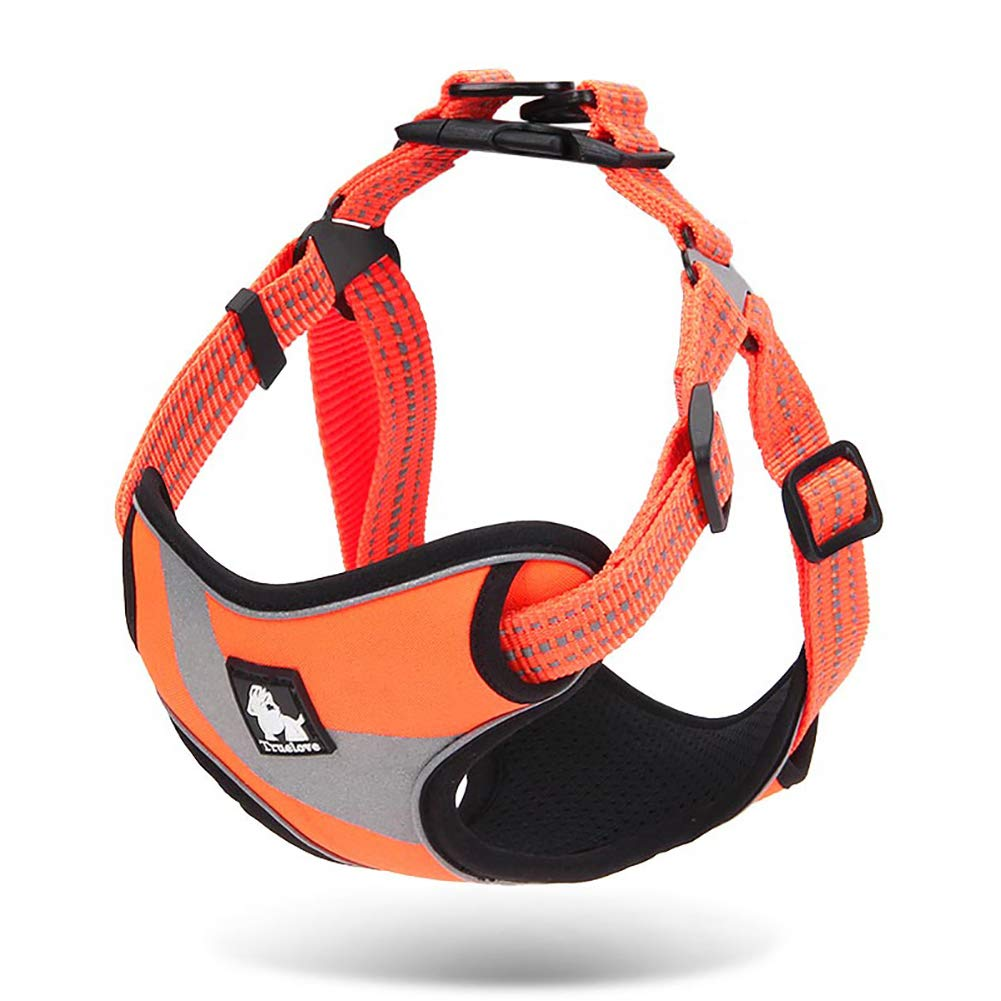orange S orange S Dog Vest Harness,Adjustable No Oxford Material Dog Harness,Pet Reflective Quick Fit Mesh Vest for Dogs Easy Control for Small Medium Large Dogs,orange,S