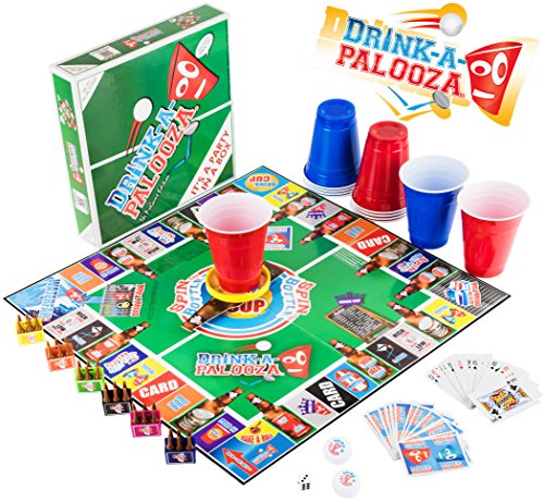 """DRINK-A-PALOOZA Party Game: the Drinking Game that combines """"old-school"""" + """"new-school"""" Adult Games featuring Beer Pong, Flip Cup, Kings Card Game & all the Best Games for Adults"""