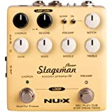 NUX Stageman Floor Acoustic Preamp/DI Pedal with Chorus, Reverb,Freeze and 60 seconds Loop for Acoustic Guitar,Violin,Mandoli