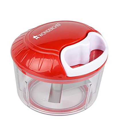 Wonderchef String Jumbo Plastic Chopper, White/Red Graters & Slicers at amazon