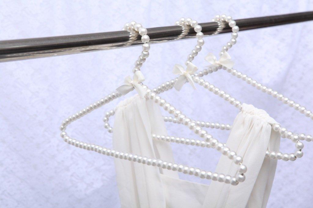 Plastica Bianco Perla Arco Appendiabiti Gancio Per I Bambini I Bambini Di Bowknot Bianco