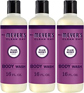 Mrs. Meyer's Clean Day Moisturizing Body Wash, Cruelty Free and Biodegradable Formula, Plum Berry Scent, 16 oz- Pack of 3