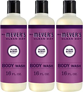 product image for Mrs. Meyer's Clean Day Moisturizing Body Wash, Cruelty Free and Biodegradable Formula, Plum Berry Scent, 16 oz- Pack of 3