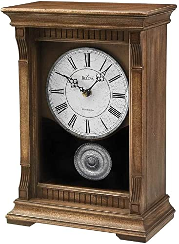 Bulova Warrick III Mantel Chime Clock – B7663