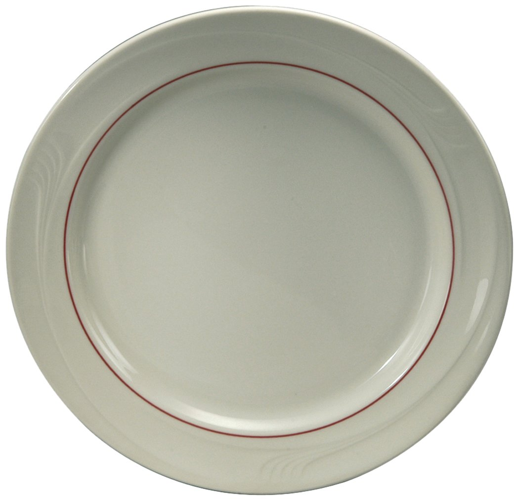 Oneida Foodservice Espree Accent Plate, 6.25'', Burgundy, Set of 36