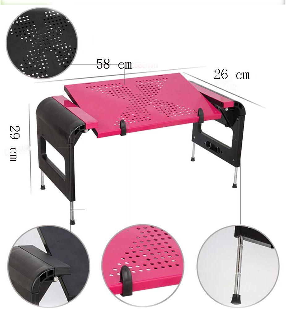 Work SBVDJ Laptop Table for Bed,Adjustable Vented Laptop Stand,Portable Folding Standing Desk,Suitable for Suitable for Bed Office