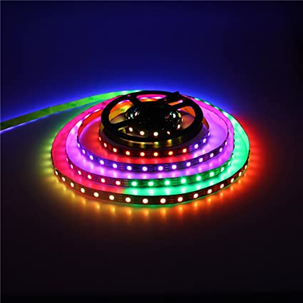Amazon alitove ws2811 addressable rgb led strip light 12v 164 alitove ws2811 addressable rgb led strip light 12v 164ft 5m 300 leds flexible rope light aloadofball Image collections