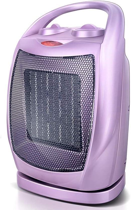 DULPLAY 1500w Silencioso Ceramic Ventilador calefactor, Con termostato ajustable Cabeza Portátil Calentador eléctrico ventilador Con protección contra el sobrecalentamiento Asa de transporte-Púrpura 16x12x27cm(6x5x11inch): Amazon.es: Hogar