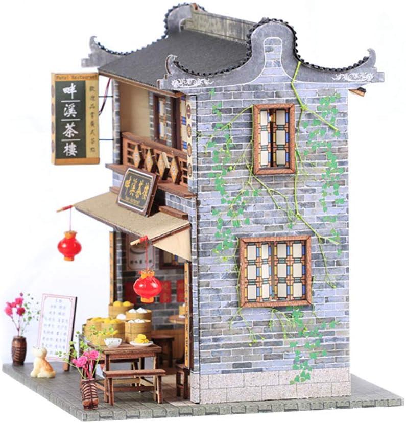 Afternoon Tea Time September-DIY Handmade Architectural Model Mini Dollhouse Home Kit