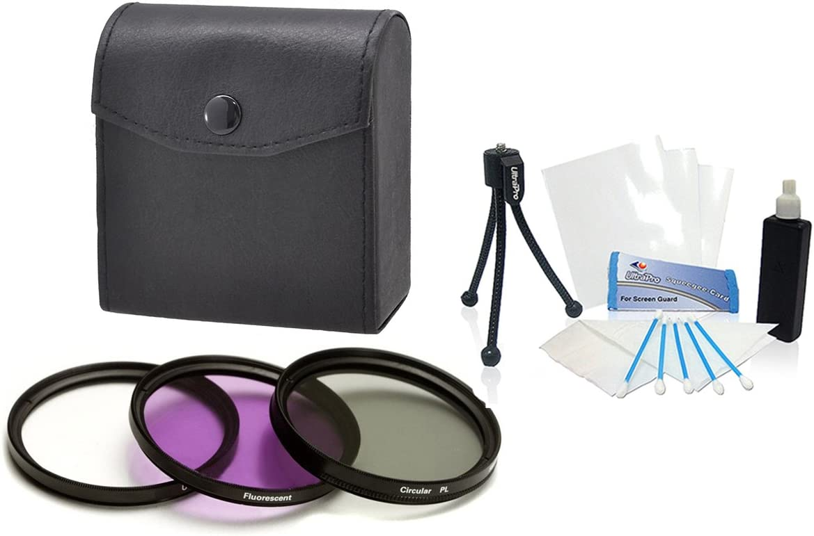 40.5mm Digital High-Resolution Filter Kit UV, CPL, FLD UltraPro Deluxe Accessory Set Included with Deluxe Filter Carry Case for Select Sony Digital Cameras