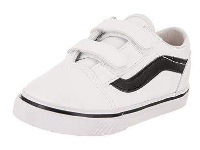 4fba20b99c Vans Toddlers Old Skool V (Classic Tumble) Trwht Blk Skate Shoe 4 Infants