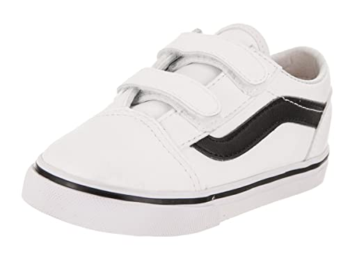 2d2ae65872 Amazon.com  Vans Toddlers Old Skool V (Classic Tumble) Trwht Blk ...
