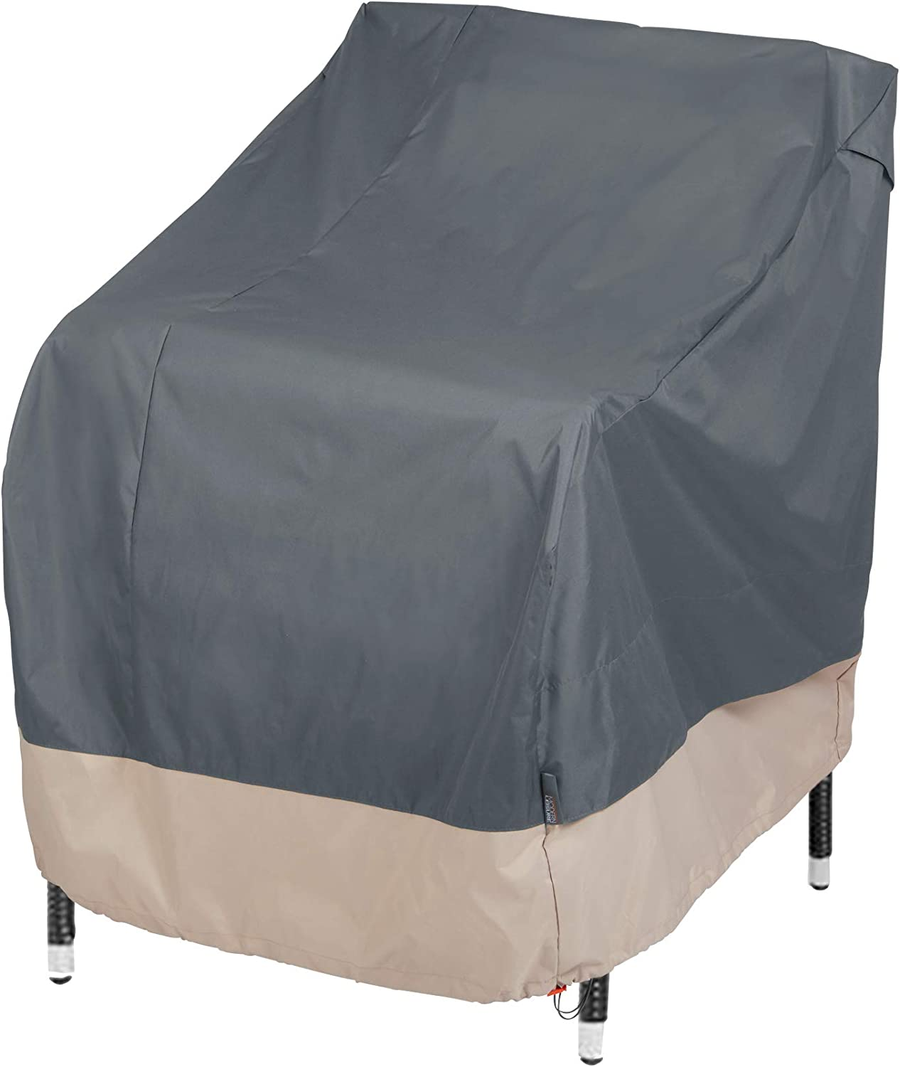 Modern Leisure 3134D Basics Outdoor Patio Chair Cover - Water Resistant (33 W x 34 D x 31 H inches), Khaki/Fossil : Garden & Outdoor