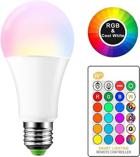 ONEVER 15W RGBW Bombilla LED E27 Cambio de color Atmósfera ...