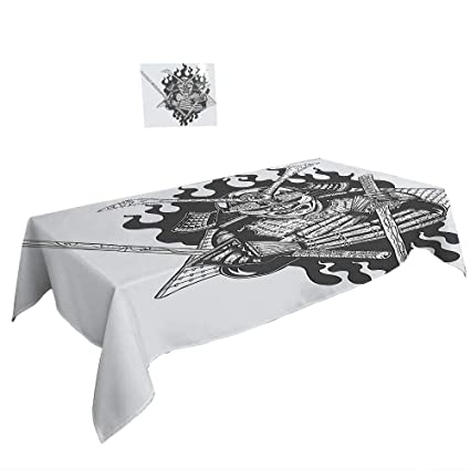 Amazon.com: Rectangle Tablecloth Japanese Decor Fearsome ...