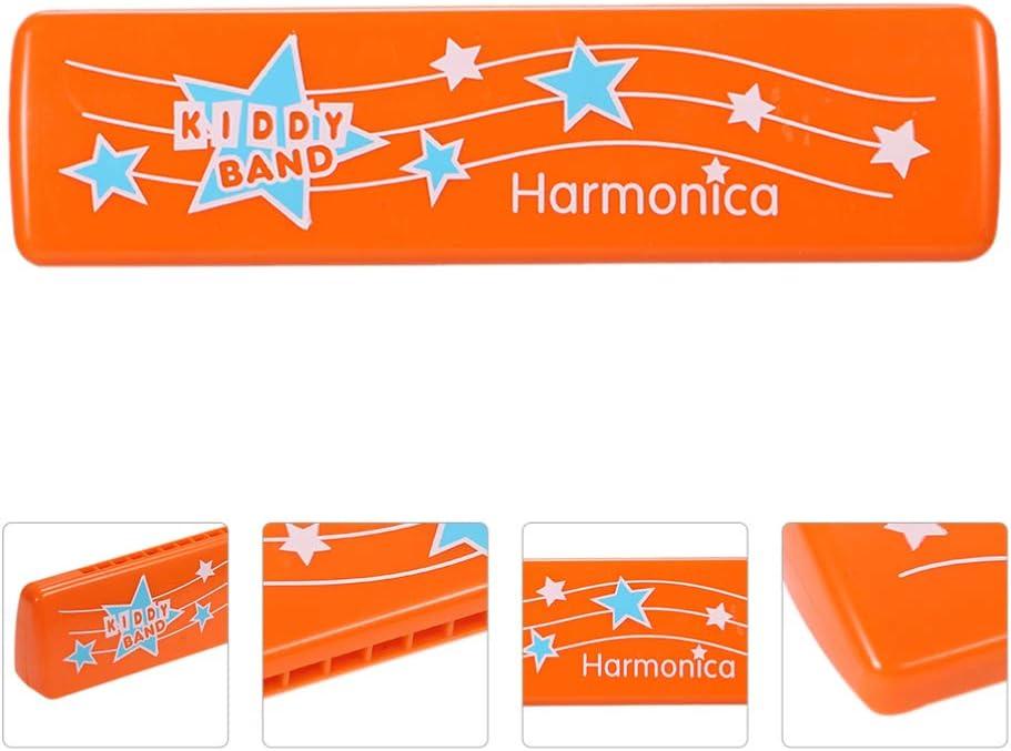 WINOMO Kid Harmonica Toy Plastic 16 Hole Harmonica Music Instrument Music Decelopmental Toy Party Favors Gift for Toddler Kids Boys Girl