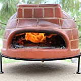 RAVENNA Authentic Wood-Fired Clay Pizza Oven (Red Brick Style)
