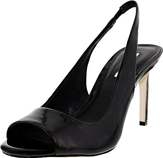 BCBGMAXAZRIA Womens Moxy Leather Peep Toe Special Occasion Off White Size 95