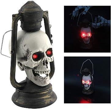 """weiß Lichterkette /""""Totenkopf/"""" Halloween-Deko Partydeko 10 LEDs 120 cm"""