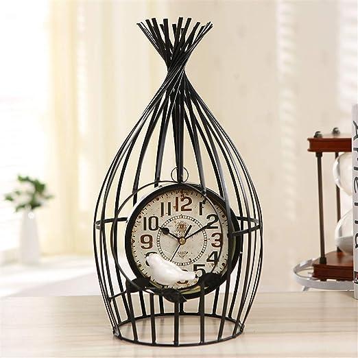 PGYZ Creativo Reloj De Mesa De Jaula De Pájaros Decoración De ...