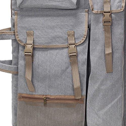 grey Grigio Hibro 4/K canvas Artist portfolio Carry borsa a tracolla multifunzionale Drawboard borse per schizzi da disegno pittura - 1