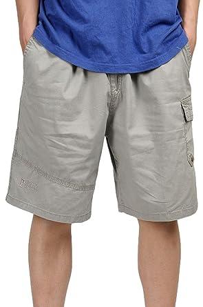 2b41f28dc06d Heheja Herren Cargo Shorts Knielang Männer Vintage Kurze Hose Baumwolle  Bermuda Khaki XL