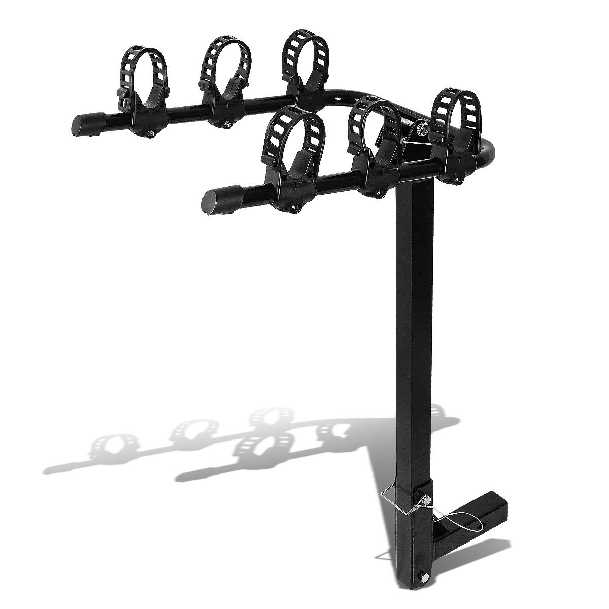 2'Hitch Fold-Up Mount Rear Trailer Bicycle/Bike Rack Carrier Storage (Powdered Coated Black) Auto Dynasty