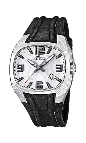 Lotus 15759/1 - Reloj analógico de Cuarzo para Hombre con Correa de Piel, Color Negro: Lotus: Amazon.es: Relojes