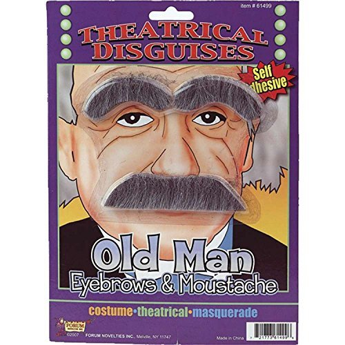 Old Man Eyebrows and Moustache Kit -