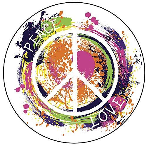 - EW Designs Splatter Paint Love Peace Sign Symbol Icon Vinyl Decal Bumper Sticker (4