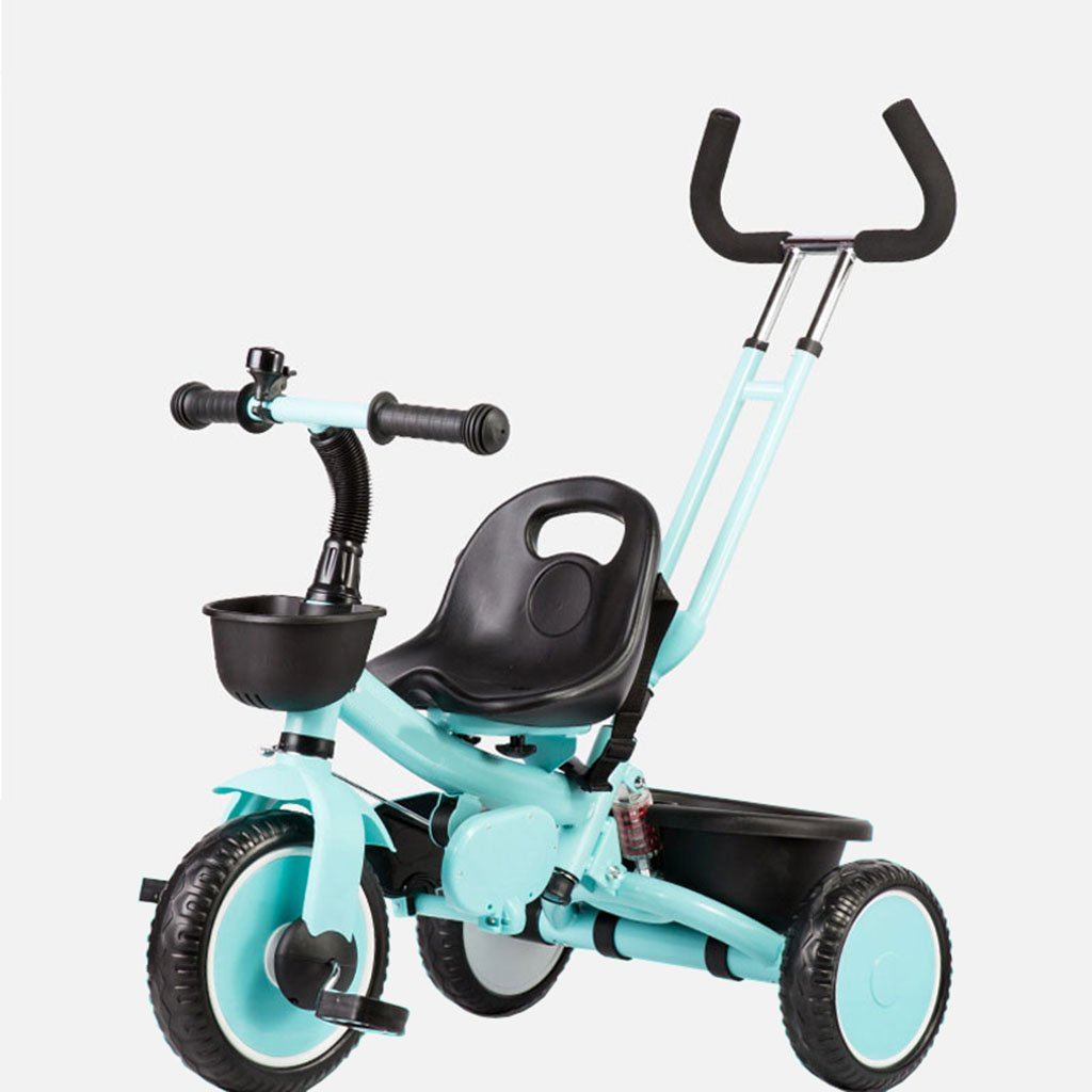 CGN子供の自転車、子供の学生の赤ちゃんの赤ん坊のキャリッジライト自転車三輪車のトロリー soft B07CMYMM7Y青