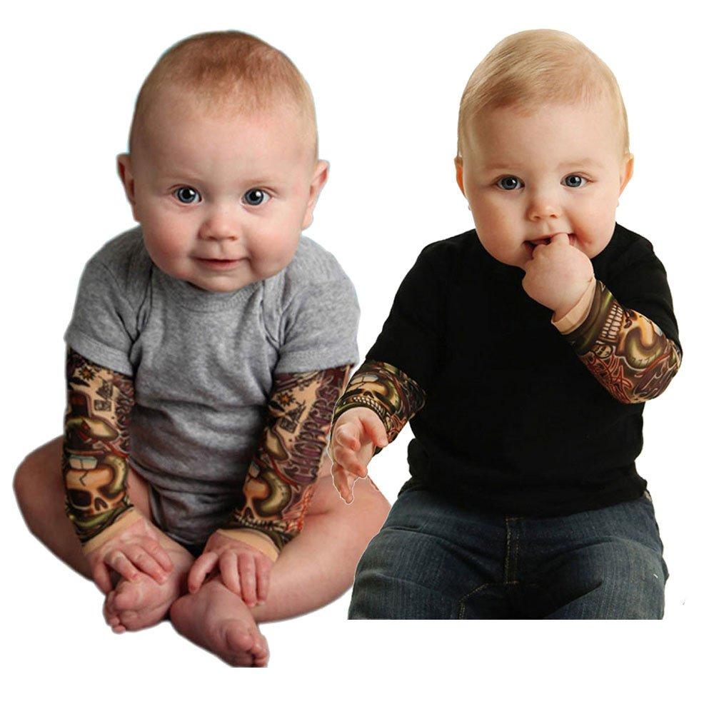 Tattoo-/Ärmel 3-24 Monate Body f/ür Jungen HUI.HUI Baby Strampler