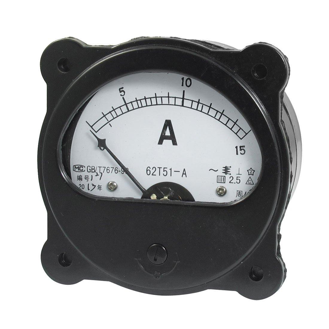 Ac 0 15a Nullstellung Dial Analog Ampere Amperemeter Panel Meter Schwarz De Gewerbe Industrie Wissenschaft