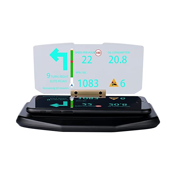 awkli Heads Up display, GPS HUD heads Up display para coches, universal Smart funda