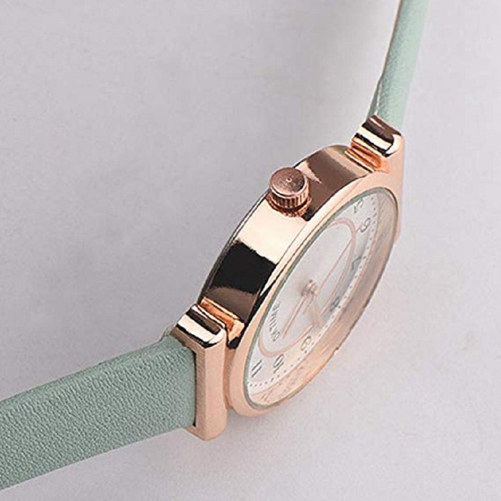 Scpink Reloj de Cuarzo para Mujer, Liquidación Relojes de Pulsera analógicos para Mujer Relojes de Mujer Relojes de Cuero de PU Nuevo (Rosa): Amazon.es: ...