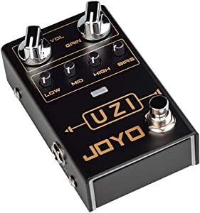 JOYO R-03 UZI Distortion Pedal Guitar Effect Pedal for Heavy Metal Music High Gain Distortion for Electric Guitar with BIAS Knob True Bypass