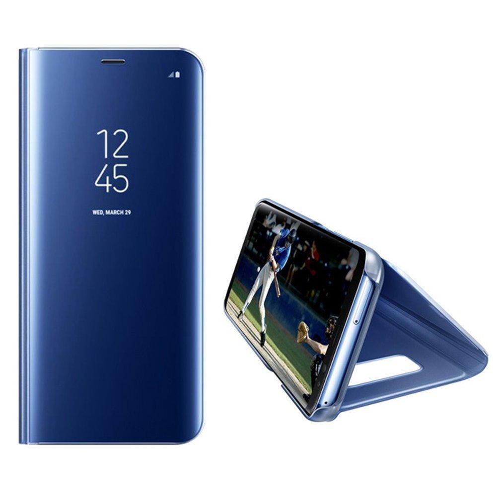 EMAXELERS Samsung Galaxy S8 Coque Ultra Mince Plating Clear Miroir Mirror Makeup Portefeuille Magn/étique Cover Coquille avec Fonction de Support pour Samsung S8 Plus:Mirror PU:Black