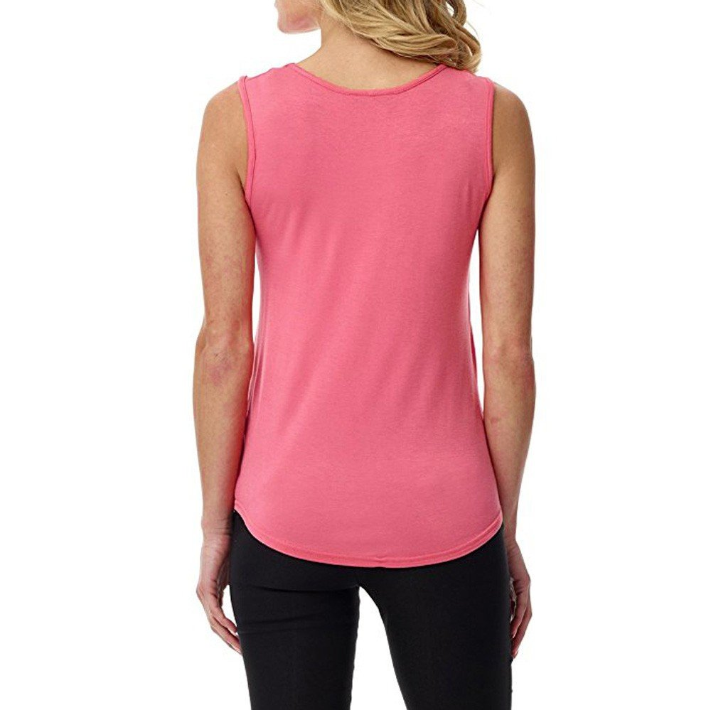 Solid Color Vest for Women, Gogoodgo Ladies Loose O Neck Swing Hem Tank Top Soft Fabric Sleeveless Classic Tops Pink by Gogoodgo vest (Image #3)