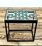 Sarreid SA-AN130 Antique Window Framed Side Table
