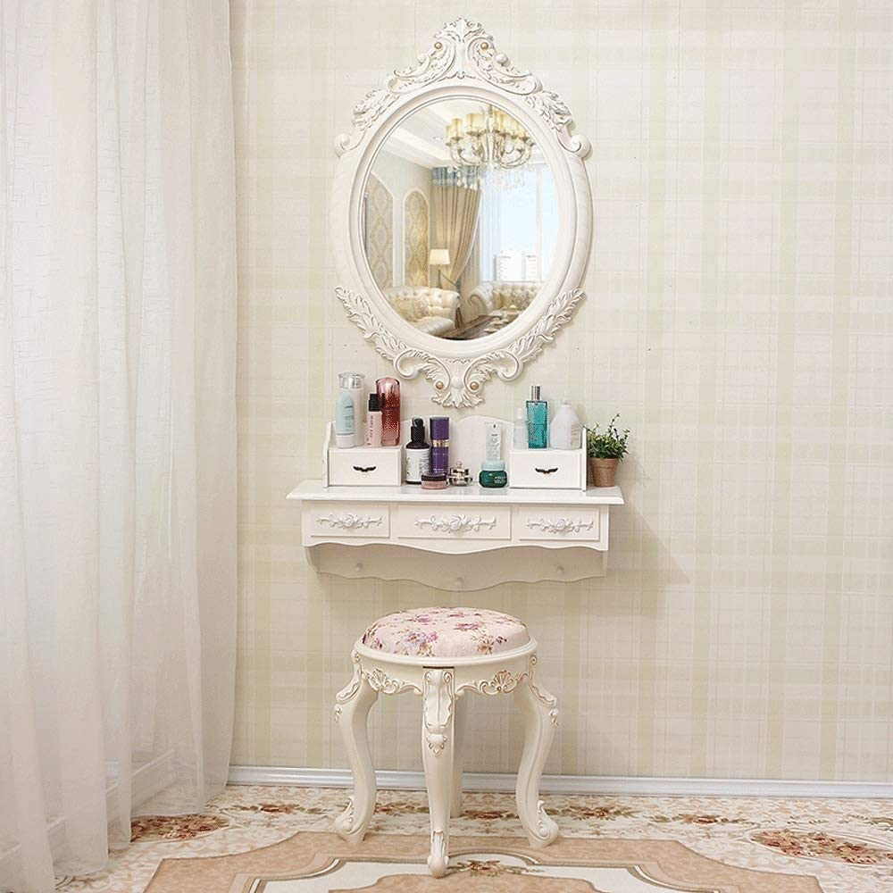 Amazon.com - Totovy Korean-Style Wall-Mounted Dressing Table with