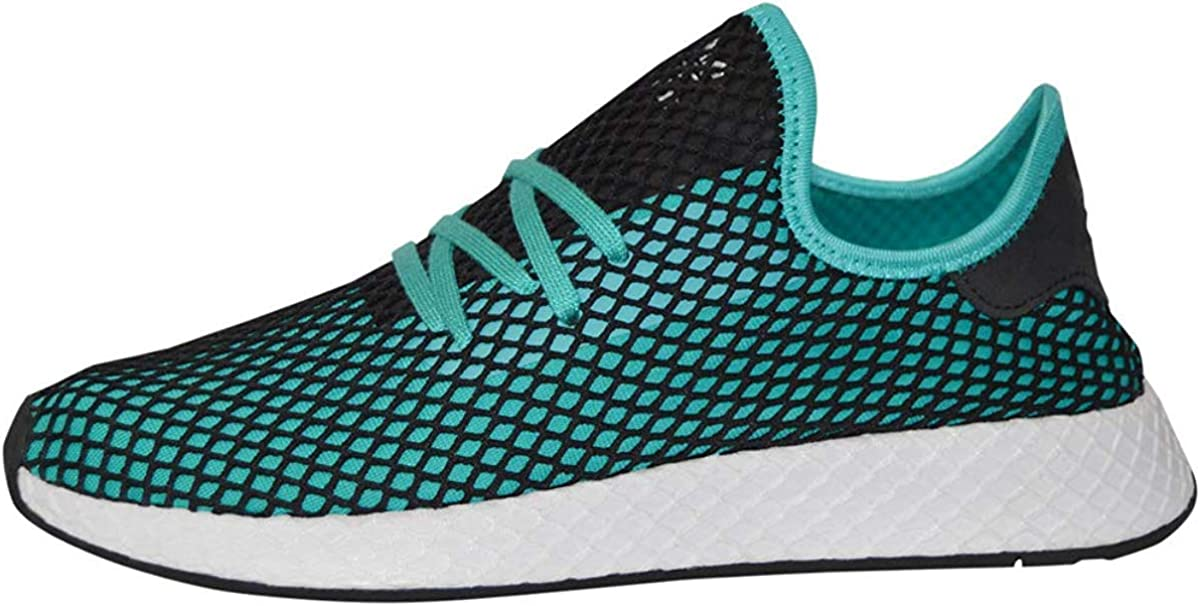 adidas Deerupt Runner Shoes Men s 9 D M US, Aqua Black