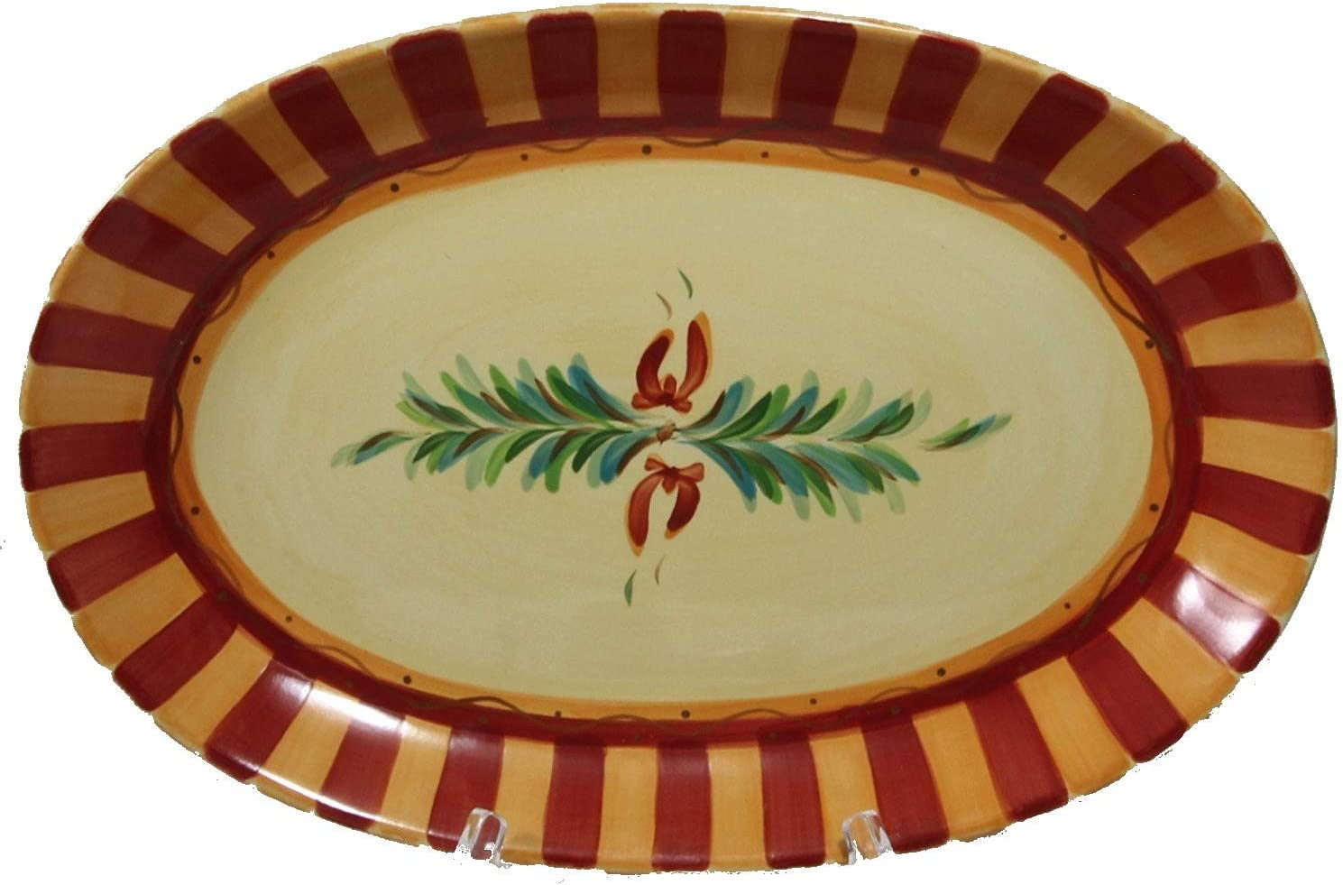 Southern Living at Home Gail Pittman Hand Painted Oval Platter, Sienna