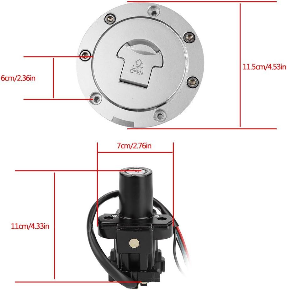 Fuel Gas Tank Cap Lock Cover with Keys for H onda CBR900RR CBR929 CBR954 CB400 VTEC 2 3 4 CB1300F CB1300S Fuel Gas Cap Tank Lock Set